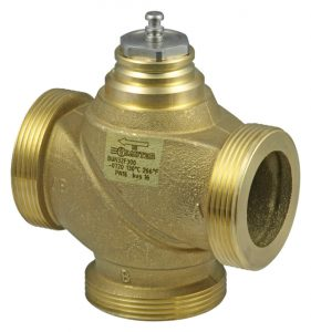 3-way valve with male thread, PN 16